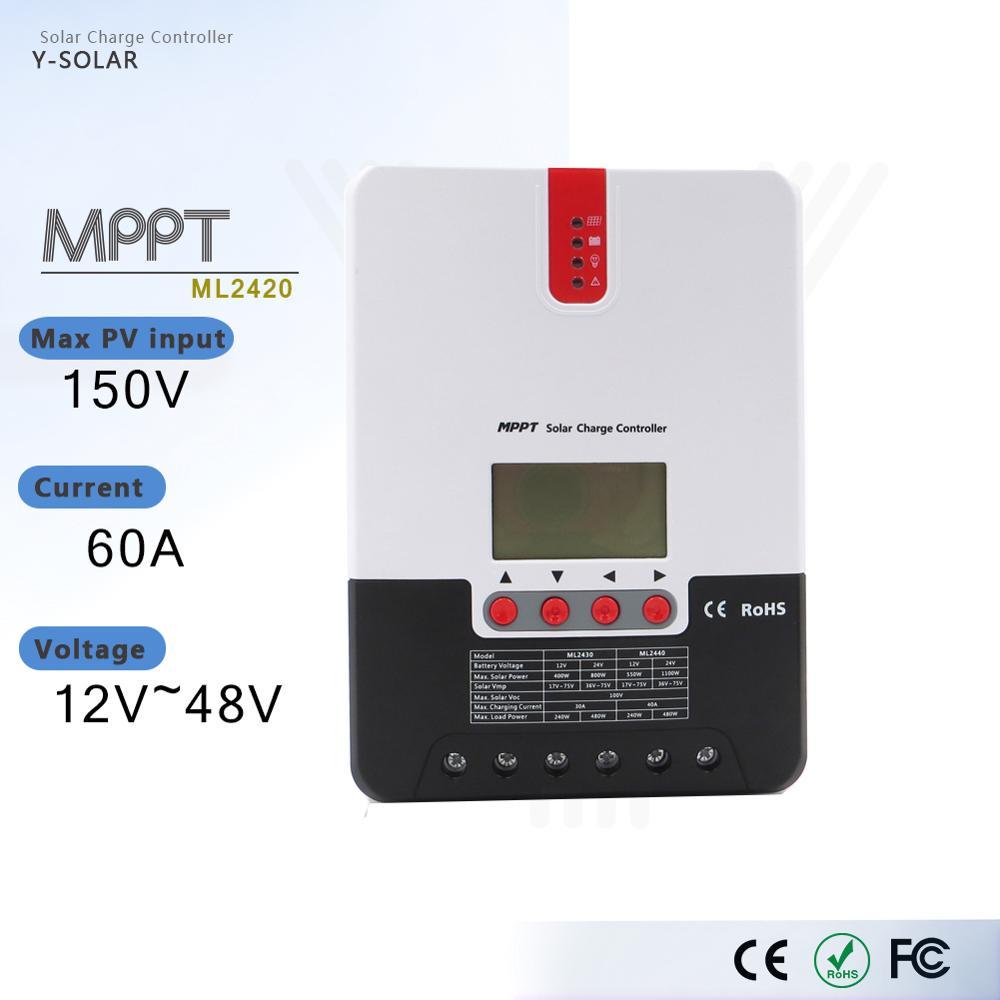 Y-SOLAR PV Efficitient transfer ladegerät Controller MPPT solar 20A batterie regler LCD display