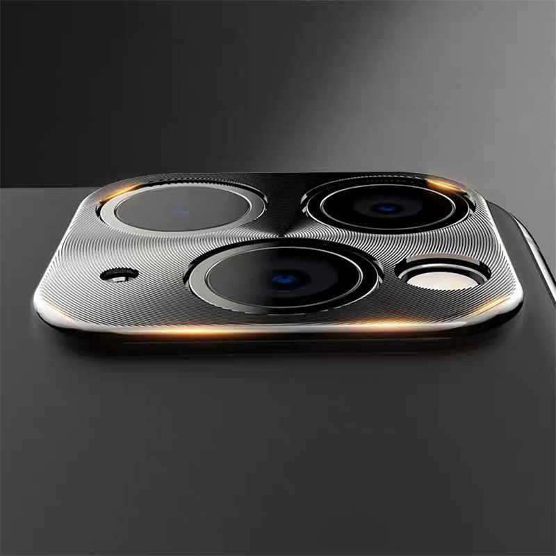 SIANCS الفاخرة CD نمط الكاميرا الخلفية الحرس دائرة معدنية ل iPhone11 11Pro برو ماكس غطاء سبائك الألومنيوم الخلفي حلقات للغطاء الوفير
