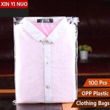 بوب لاصق حقائب ذاتية اللصق الملابس حقيبة Opp حقيبة بلاستيكية قميص عبوة تغليف شفافة حقيبة بالجملة