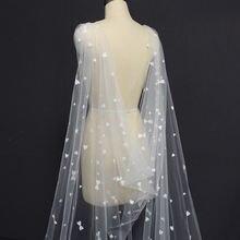 Реальные фотографии Красивая Длинная свадебная накидка 3 метра