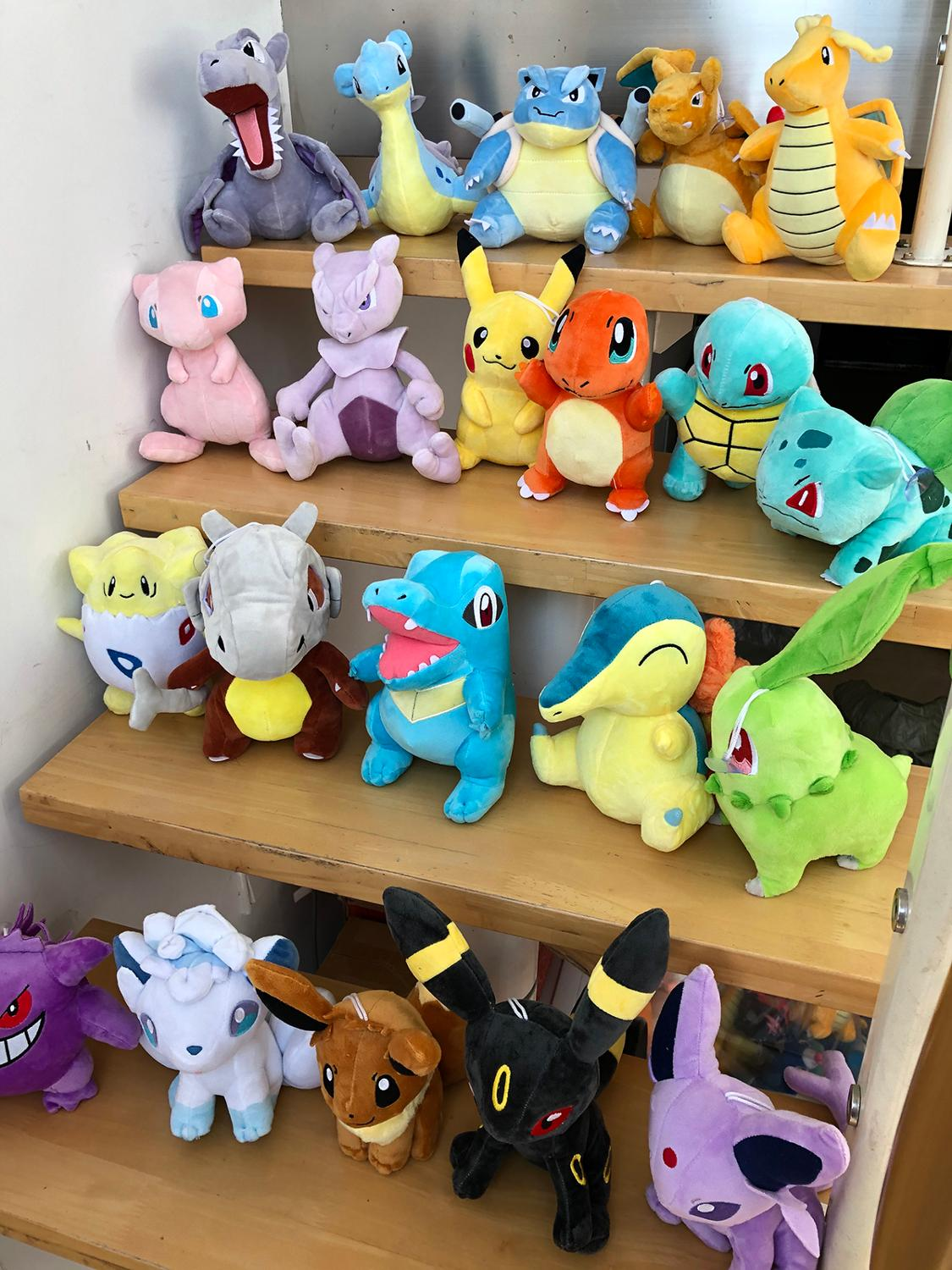 Stuffed Toy Plush-Doll Pikachued Eevee Snorlax Bulbasaur Pokemoned Squirtle Lapras Kids Gift
