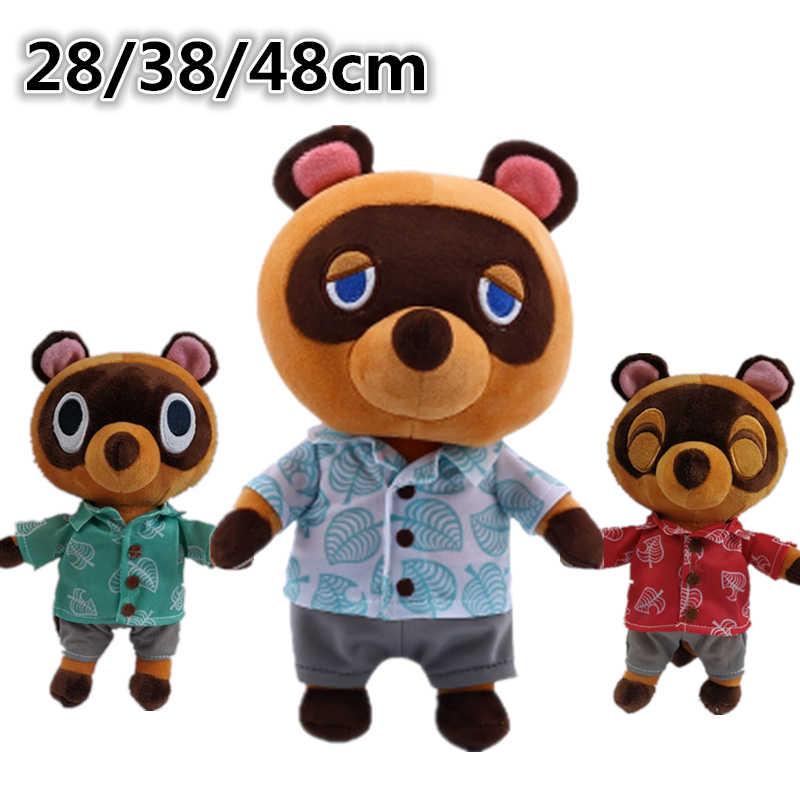 18//30cm Animal Crossing Raccoon Pelúcia Tom Nook Bear Boneca de Pelúcia Presente Crianças