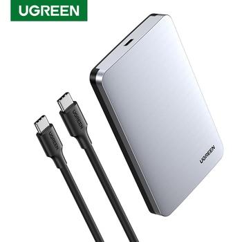 Чехол Ugreen для HDD 2,5 6 Гбит/с, SATA к USB C 3,1 Gen 2, внешний жесткий диск, алюминиевый чехол HD для Sata, корпус жесткого диска SSD, HDD