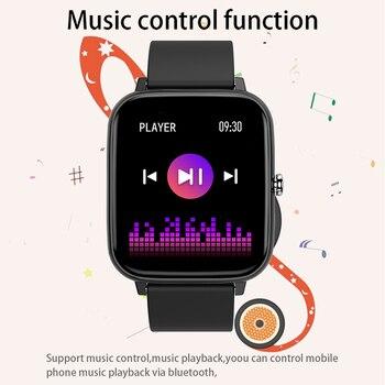 2021 Smart Watch Women Men Heart Rate Fitness Tracker Bracelet Watch Bluetooth Call Waterproof Sport Smartwatch For Android IOS 5