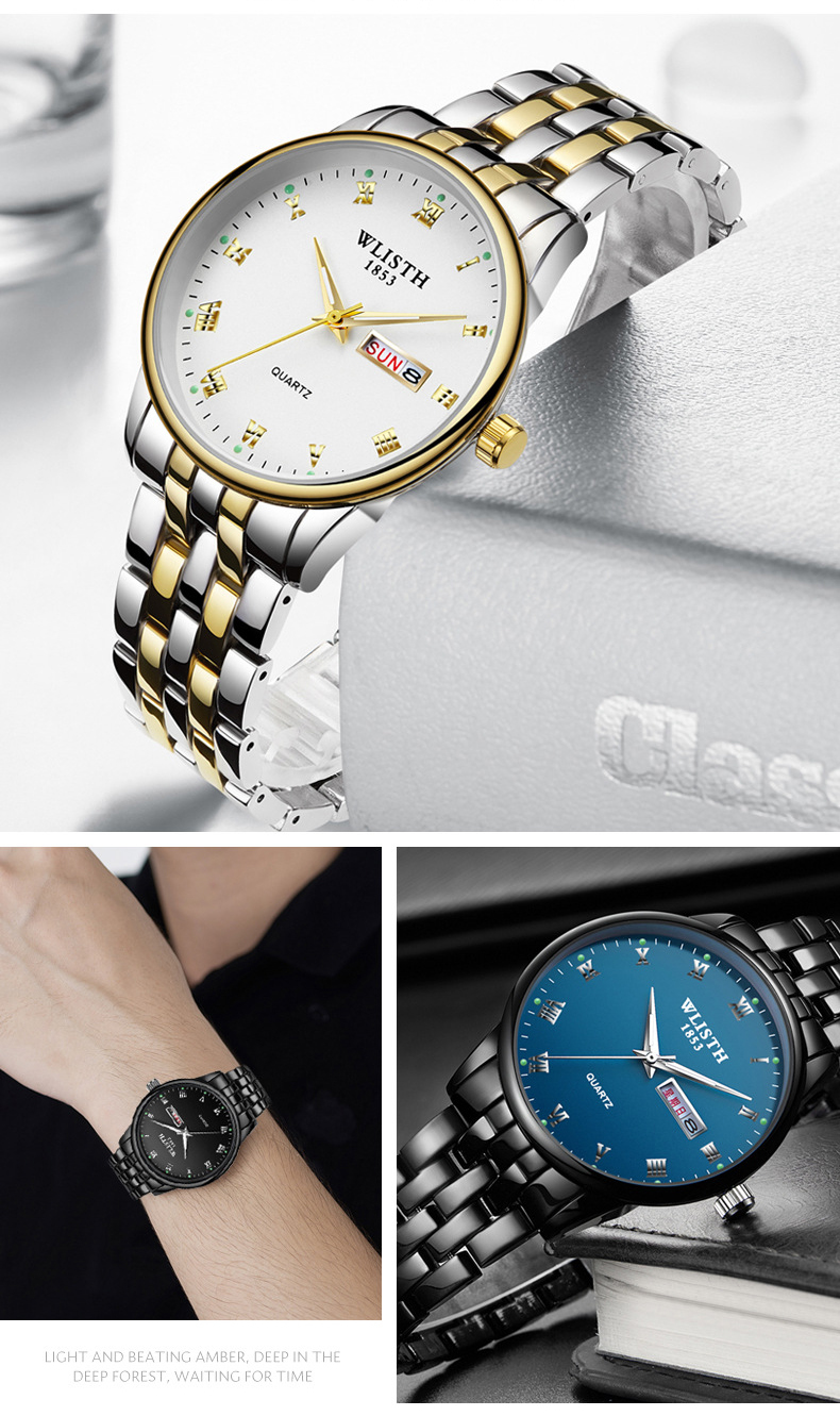 semana luminosa moda amantes relógio presente quartzo