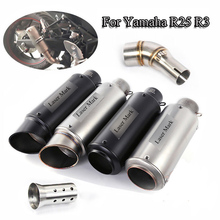 YZF R25 R3 Exhaust Full Set Pipe Mid Link Pipe+Exhaust Muffler Tail Pipe With DB Killer Slip On For Yamaha R25 R3 Until 2018