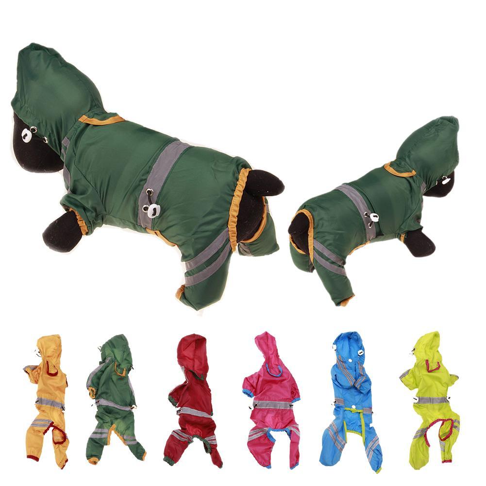PVC Dog Raincoat Reflective Rain Jacket Waterproof font b Pet b font Clothes Safety Rainwear For