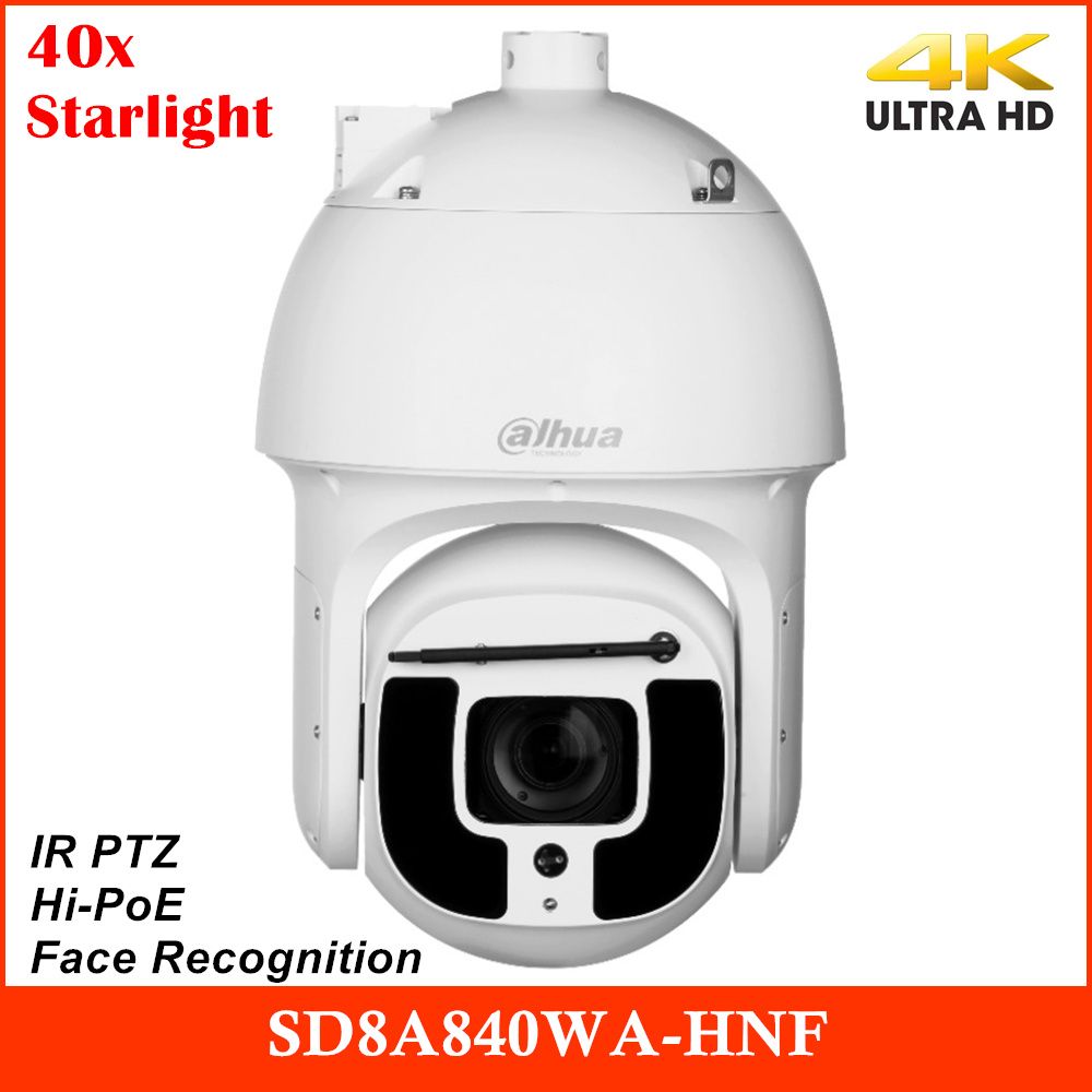 Dahua Newest SD8A840WA-HNF 4K Camera 40x Starlight IR PTZ AI Network Camera IP IR 500m Support Face Recognition and Hi-PoE