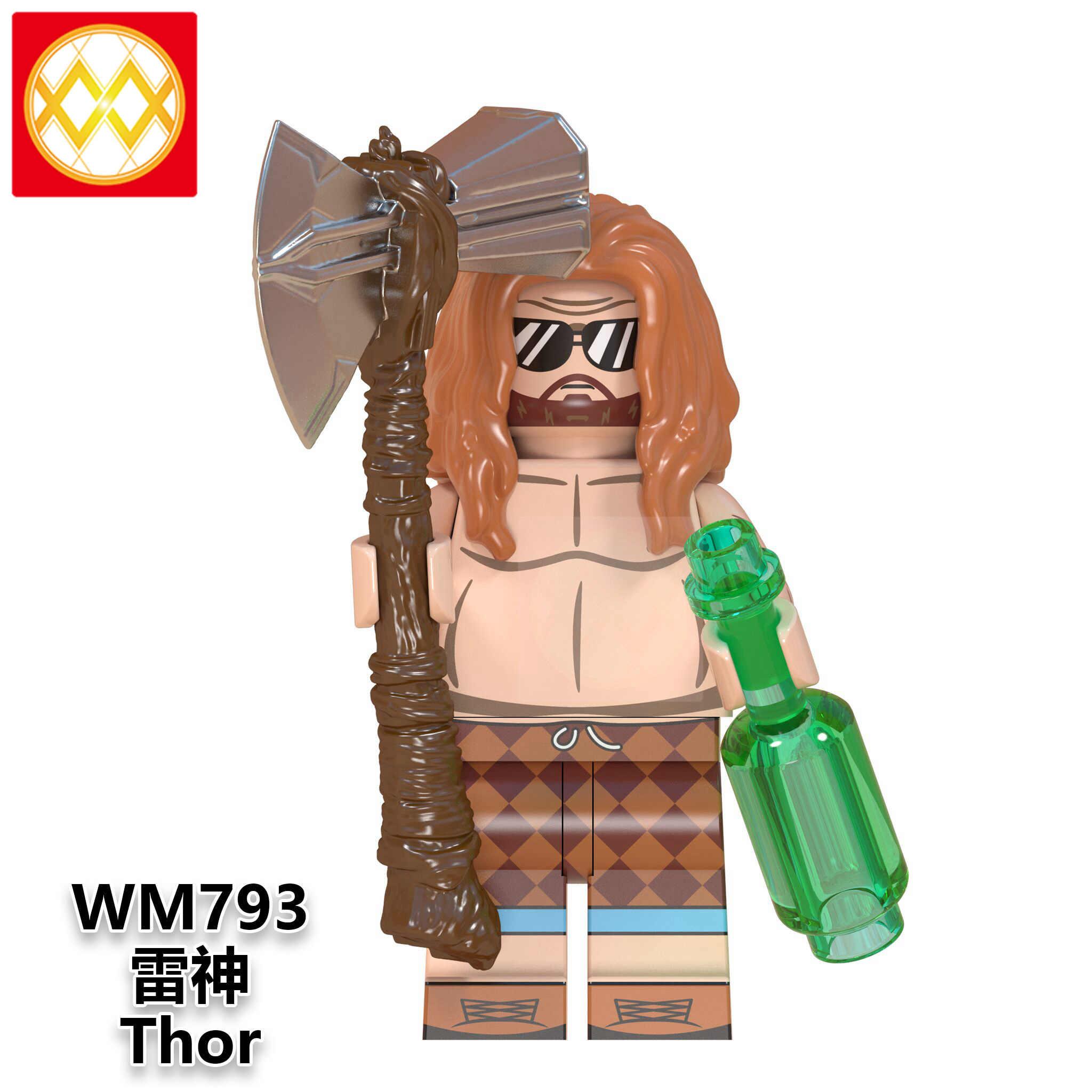 Singolo WM793 Thor Birra Tempesta Ascia Cola Asgard Gelo Giants Loki Laufey Odin Avengers Endgame Blocchi di Costruzione Per Bambini Giocattoli del Regalo