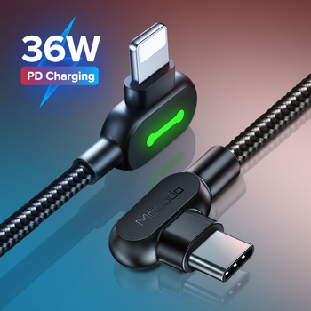 mcdodo pd 36w led usb c cable for iphone 12 11 pro max xs xr