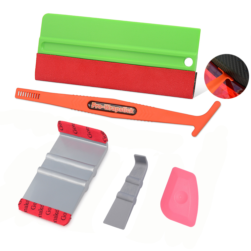 FOSHIO Auto Car Tools Window Squeegee Tinting Tools Carbon Fiber Vinyl Film Wrap Micro Magnet Wrapping Scraper Car Cleaning Tool