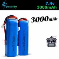 Aggiornamento 3000mAh 7.4V Ricaricabile Lipo Batteria per Frsky Taranis X9D Più Il Trasmettitore 2S 7.4V Lipo Batteria giocattolo Accessori 2pcs