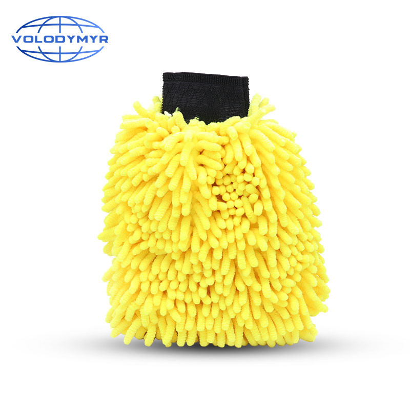 Car Wash Mitt Cleaning Tools Chenille Soft and Thick Microfiber Glove 19cm*26cm*8cm for Auto Detailing Sponge