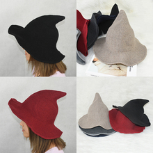 Hat Witch-Hat Chirstmas Halloween Girl Wool The Gift Along Diversified Knit 1pc Fashion