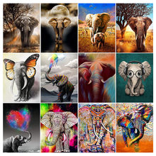DIY 5D Diamond Painting Elephant Animal Full Square/Round Embroidery Rhinestone Cross Stitch Kits Painting for Home Wall Decor