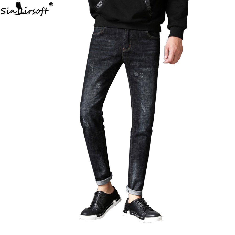 New Listing Men's Spring Street Sports Pants Casual Pants Jogging Pants Thin Section Riding Denim Retro Jeans Men Casual Cowboy
