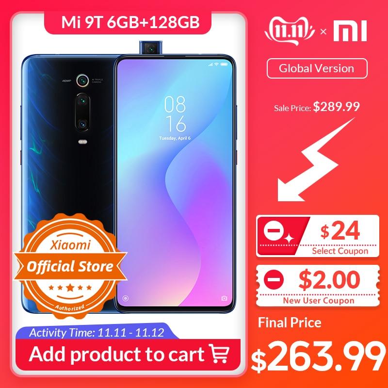 Xiaomi Mi 9T Redmi K20 6 GB 128 GB Version mondiale Smartphone Snapdragon 730 48MP caméra 4000 mAh 6.39 dans l'écran