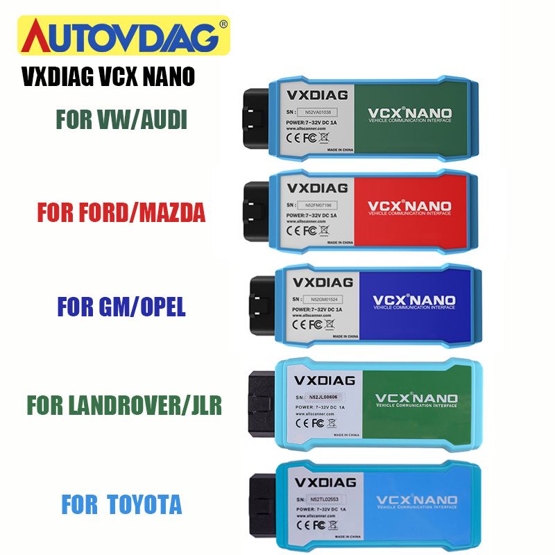 VXDIAG VCX NANO For GM/Opel GDS2 For Ford For Mazda For Toyota For Vw 5054 Car Diagnostic Tool Wifi To Online Programming