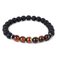 Splicing Magnet Stone Lava Bead Bracelets for Men Women Charm Elastic Hand Jewelry Gift DropShipping