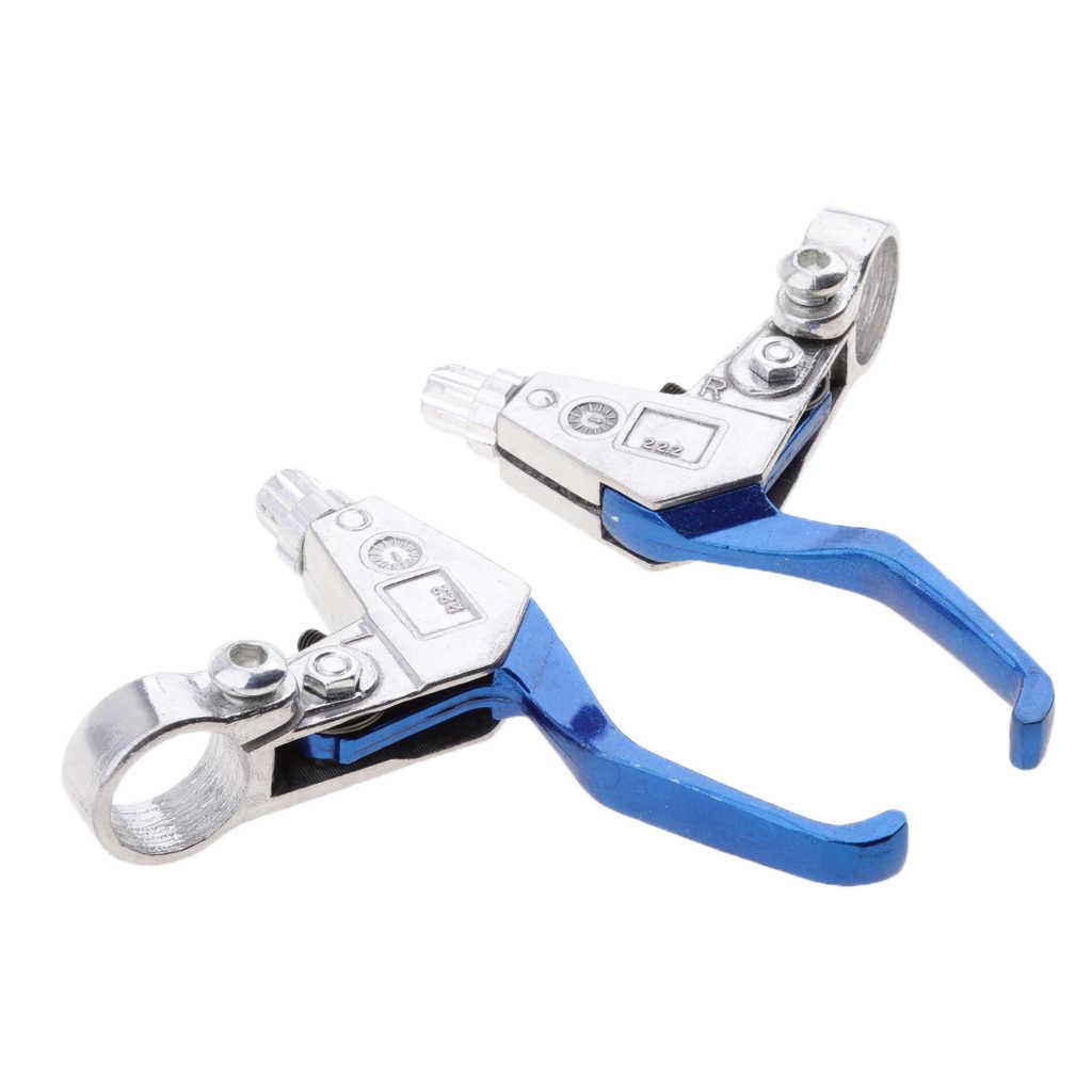 Levier de frein moto bleu pour moteur 49cc 2 temps Mini vélo de poche ATV