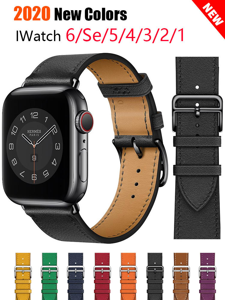 Business Real Leather loop Bracelet Belt Band for Apple Watch band 6 SE 5 4 42MM 38MM