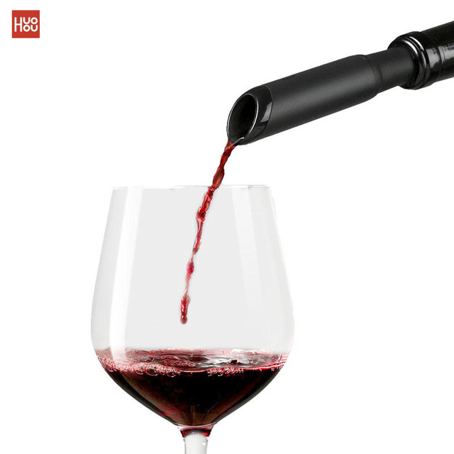 Newest Huohou Fast Decanter Red Wine Decanter Pouring Tools Mini Wine Filter Air Intake Bottle Pourer Aerator For Family Bar