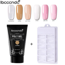 6 Kleuren 30G Polygel Nail Acryl Poly Gel Roze Wit Clear Led Builder Gel 100 Stuks Nail Tips quick Extension Gel Poly Gel Kit(China)