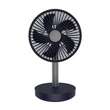 Cooling Fan 3-Speed Adjustable Portable Mini Hand Fans 4000Mah Rechargeable Micro- Usb Desk Air Cooling Fan Black(China)