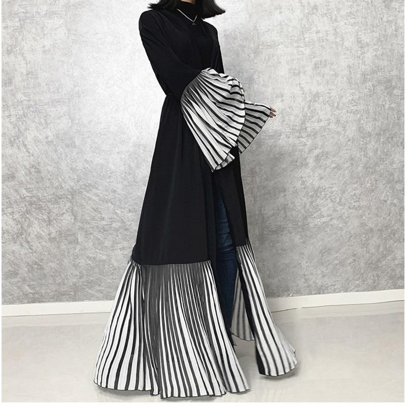 Black Abaya Kimono Dubai Turkish Cardigan Muslim Dress Kaftan Robe Islamic Clothing Caftan Marocain Kaftans Ropa Musulman Mujer