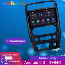 Wekeao dokunmatik ekran 9 1 Din Android 9.0 araç Dvd oynatıcı multimedya oynatıcı Suzuki Jimny için araba radyo GPS navigasyon 2007 2018 WIFI 4G
