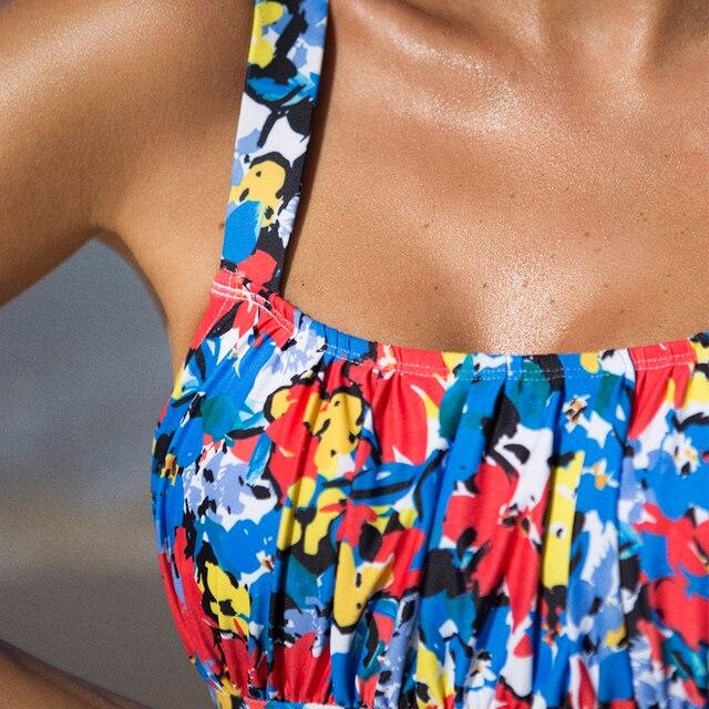 One-Piece Swimsuit Bright Print