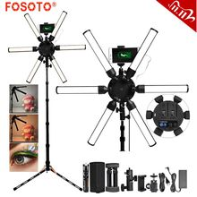 FOSOTO Photographic Lighting Multimedia Extreme Led Video Light 60W Led Star Light Lamp With Tripod USB For Phone Makeup Youtube