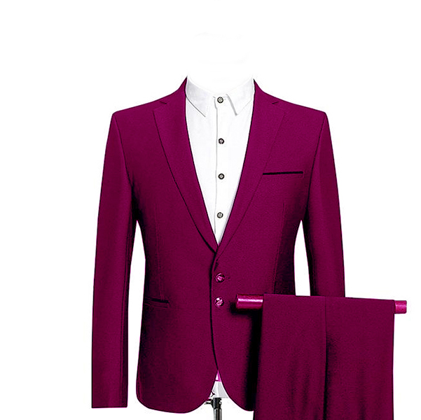 2020 Men Wedding Suits Two Buttons With Pants Wool Blend Tuxedos Fashion Groom Business Career Suits 3 PCS Costume Homme Ternos