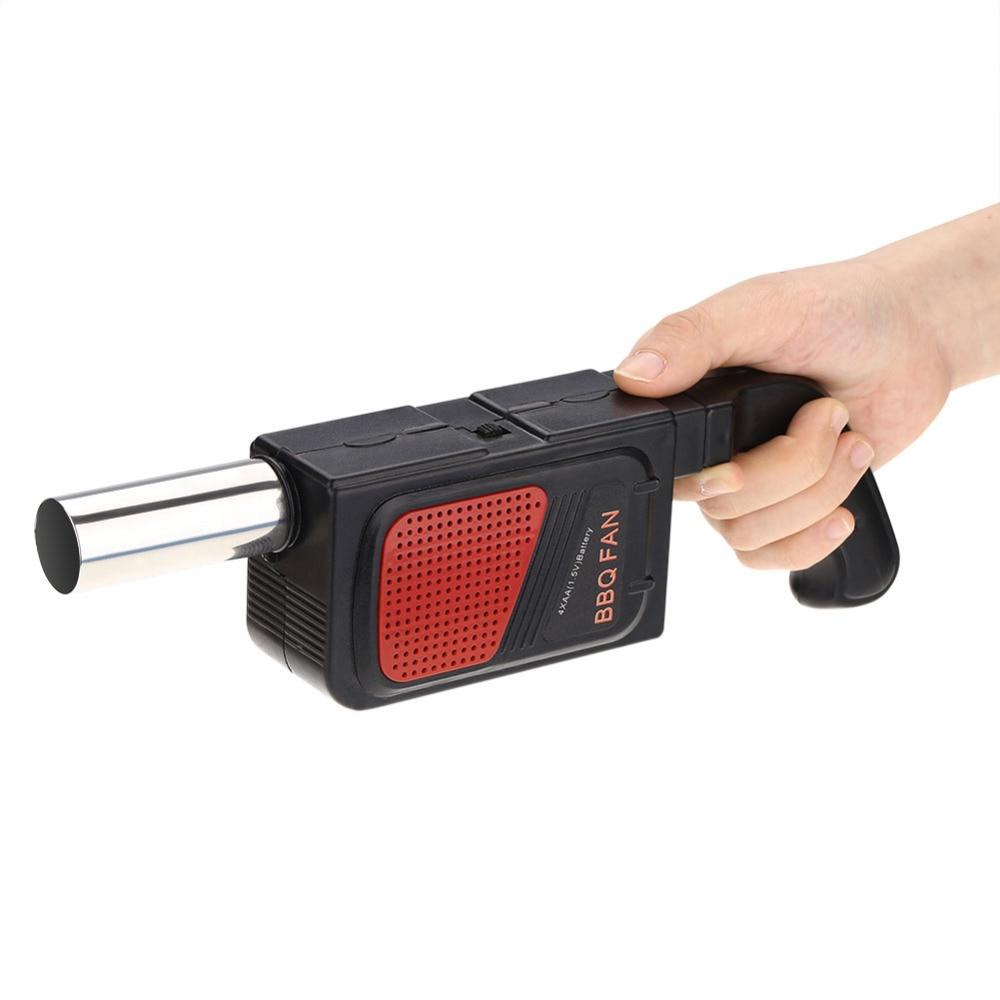 Sopladores de aire Ventilador de barbacoa de mano, soplador eléctrico de fuelle para barbacoa, acampada, Picnic, herramienta de cocina