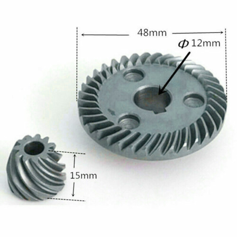 Tool Spiral Bevel Gear Set Household Supplies For Makita 9555NB 9554NB Angle Grinder Spiral Teeth