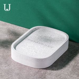 Image 1 - Youpin Jordan&Judy Diatom Mud Soap Tray Bathroom Quick drying Absorbent Pad Diatom Pad Moistureproof Soap Box