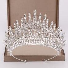Женская Тиара с кристаллами большая корона для невесты свадебные