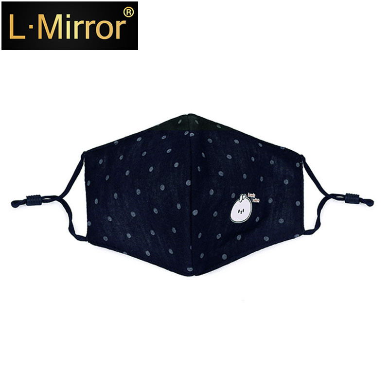 L.Mirror 1Pcs Dust Allergy Flu  Washable Breath Healthy Safety Respirator Reusable Cartoon Girls Face Mouth Mask