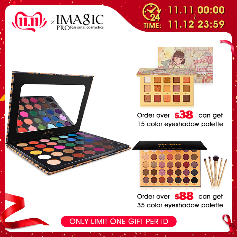 IMAGIC New 35 Color Nude Shiny Eye Shadow Palette Waterproof Tray Pigment Pearl Matte Cosmetics