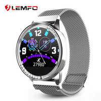 LEMFO Alloy inteligentny zegarek kobiety kalorii tętno monitor ciśnienia krwi wiadomość przypomnienie przypomnienie krokomierz kobiety prezent inteligentny zegarek