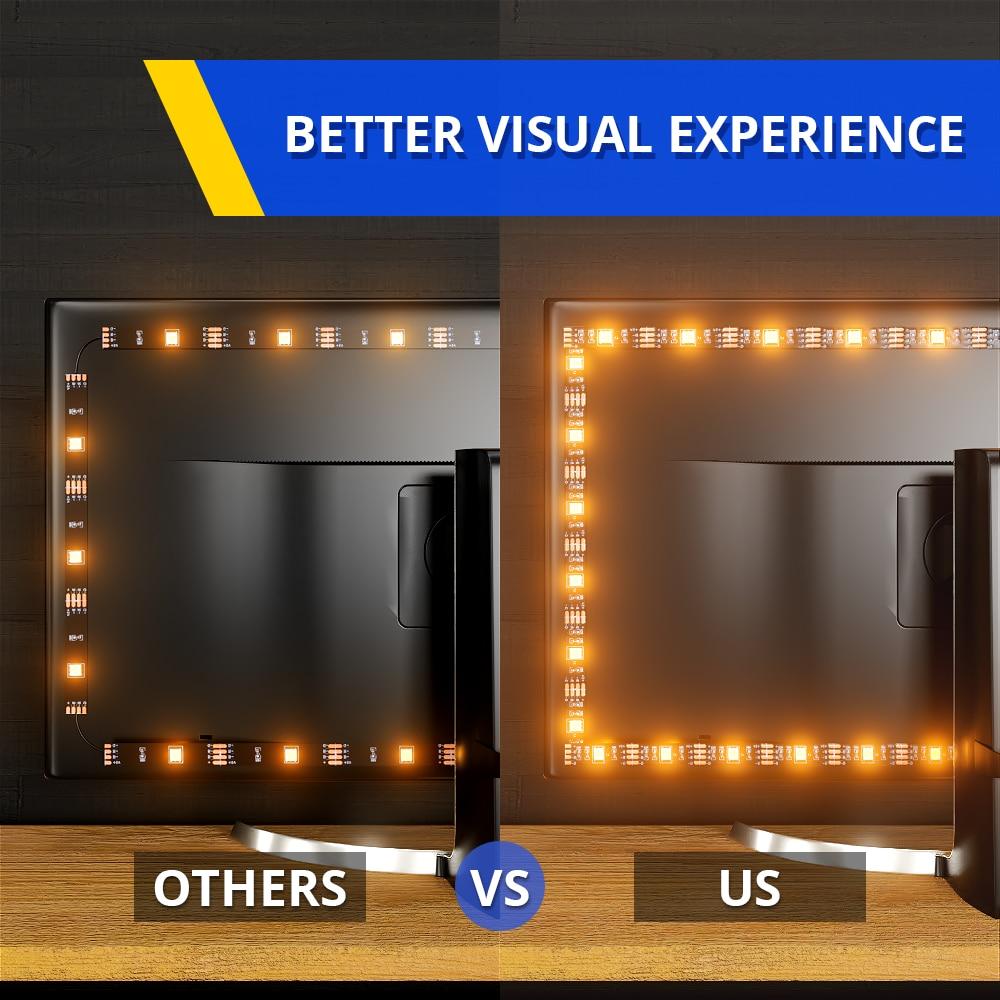 LED Strip Light,Bluetooth APP Control, LED TV Light,5V USB Bluetooth RGB Tape Lamp For TV Background Decoration 2
