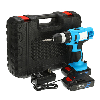 21V Electric Screwdriver Cordless Electric Mini Drill + Battery Charger 2200RPM Li-Ion Batteries Operated Rechargeable 2-Speed