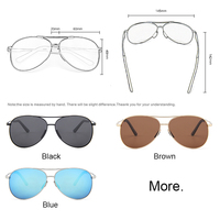 Metro Vintage Pilot Sunglasses 4