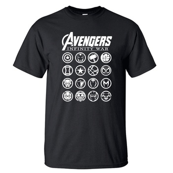 The Avengers T Shirt Men Superhero Iron Man Captain America Thor Hulk Black Widow Tshirt Summer Tops Super Hero T-Shirt Tees