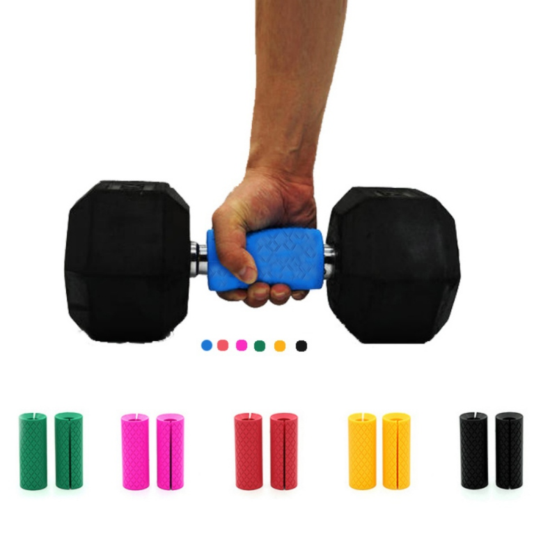Dumbbell Barbell Grips Thick Bar Fat Handle Pull Up Weightlifting Support Silicone Anti-Slip Protect Pad For Fitness Body Buildi