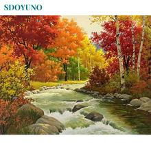 Sdoyuno 60x75 см картина маслом по номерам Осеннее украшение