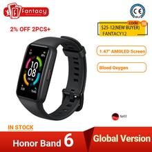Honor Band 6 Smart Bracelet AMOLED Swimming Waterproof Bluetooth Fitness Sleep Heart Rate Monitoring Music Calling