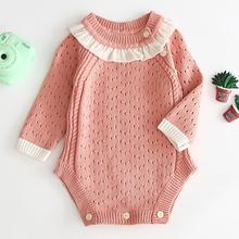 0-3Yrs wiosenny i jesienny nowy 2020 dziewczynka różowy trójkąt pajacyki dziewczynka długie rękawy pajacyki dziewczynka noworodka pajacyki tanie tanio COTTON Stałe baby O-neck Swetry Dziecko dziewczyny Pełna B91H17 Pasuje prawda na wymiar weź swój normalny rozmiar Rompers