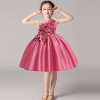 Ephex Fashion Mesh Party Flower Dress Adorable Sleeveless Princess Summer Dresses Cute Solid Color Family Celebrations Wedding