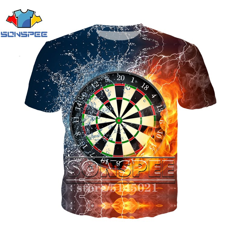 Darts T-Shirt Never Underestimate an Old Man With A Dartboard Mens Funny Flights